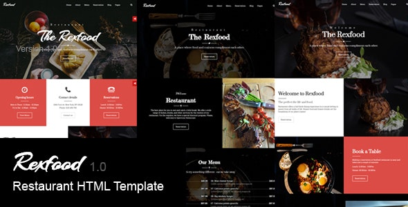 Rexfood - Restaurant HTML Template - Corporate Site Templates
