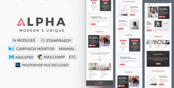 Alpha | Stylish Newsletter