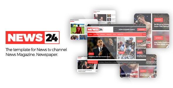 News24 - Responsive Newspaper and News Magazine Template - Corporate Site Templates