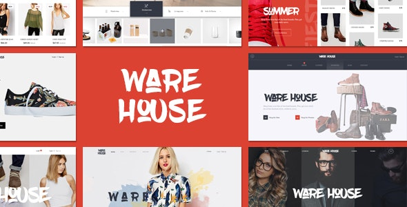 Warehouse – multipurpose ecommerce PSD template - Fashion Retail