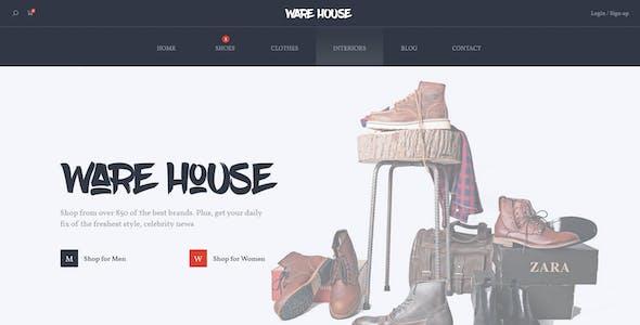 Warehouse – multipurpose ecommerce PSD template