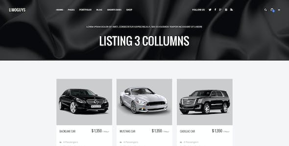 LIMO GUYS - Creative PSD Template for Car Rental and Limo Service