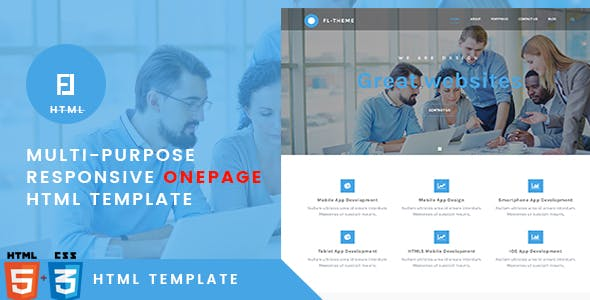 Fl -Multi-Purpose Responsive OnePage HTML Template