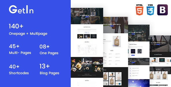 GetIn | The MultiPurpose HTML5 Template - Site Templates