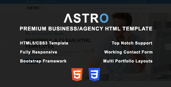 Astro - Premium Business/Agency HTML Template - Creative Site Templates