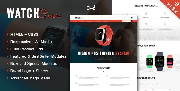 Watch Over - Single Product Magento Theme - Technology Magento
