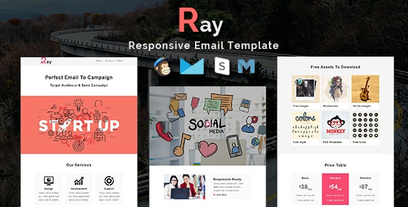 Ray - Multipurpose Responsive Email Template - Newsletters Email Templates