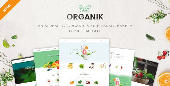 Organik - An Appealing Organic Store, Farm & Bakery HTML Template - Food Retail