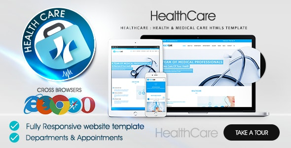 Healthcare : Health & Medical Care HTML5 Template - Health & Beauty Retail