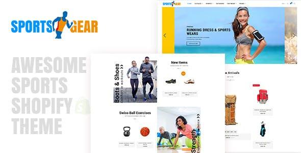 Sports Gear - Shopify Theme
