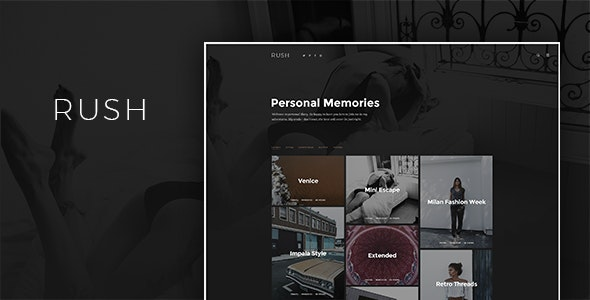 Rush - Blog HTML Template - Creative Site Templates