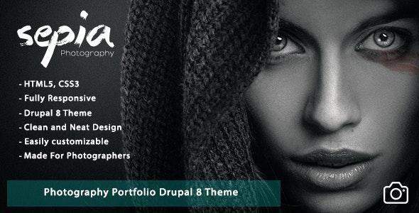 Sepia - Photography Portfolio Drupal 8 Theme - Photography Creative