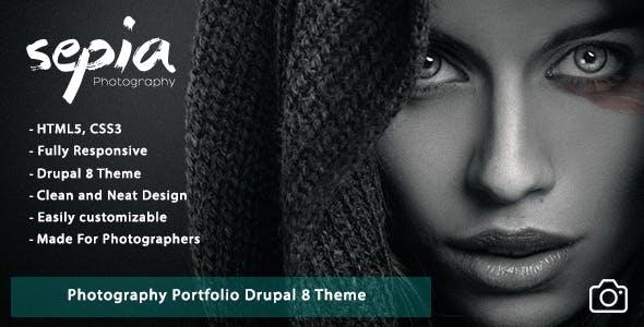 Sepia - Photography Portfolio Drupal 8 Theme