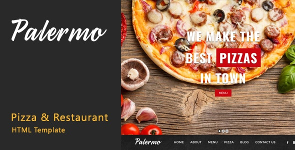 Palermo - Pizza & Restaurant HTML Template - Food Retail