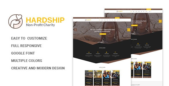 Hardship Charity Donation | Nonprofit / Fundraising HTML5 Template - Nonprofit Site Templates