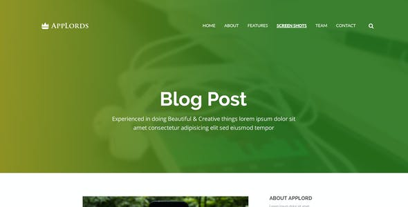 AppLords_One Page Multipurpose PSD Template