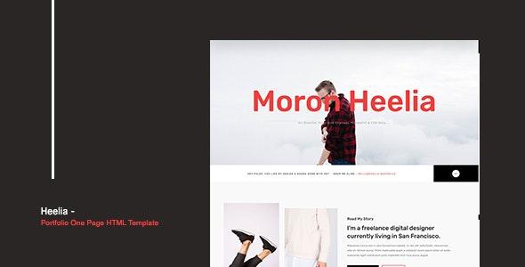 Heelia - Portfolio One Page HTML Template - Personal Site Templates