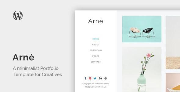 Arne - Minimal Creative Portfolio Theme - Portfolio Creative