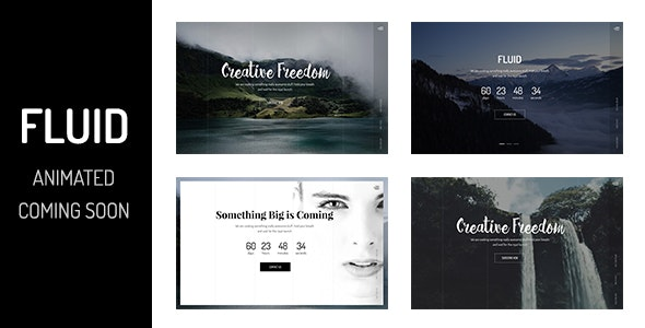 Animated Coming Soon Template — Fluid - Under Construction Specialty Pages