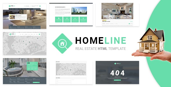 Homeline - Modern Unique Real Estate Template - Business Corporate