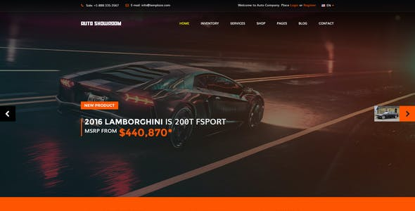 Auto Showroom - Car Dealership Joomla Template
