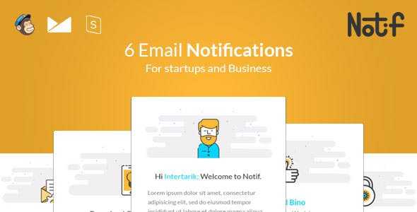 Notif - Email Notifications templates