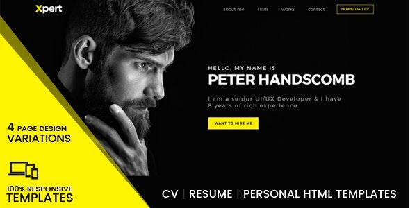 Xpert - Personal & Portfolio HTML Templates - Portfolio Creative