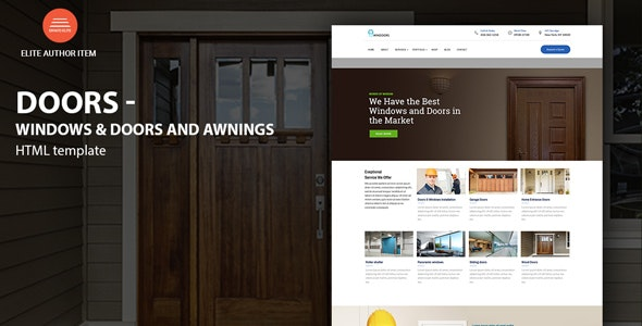 Windows & Doors - High Quality HTML template - Business Corporate