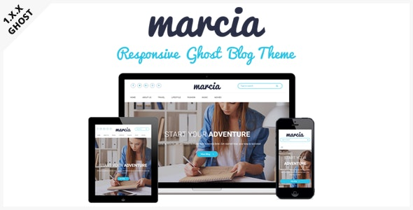 Marcia - Responsive Masonry Ghost Blog Theme - Ghost Themes Blogging