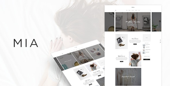 MIA - Blog PSD Template - Personal Photoshop