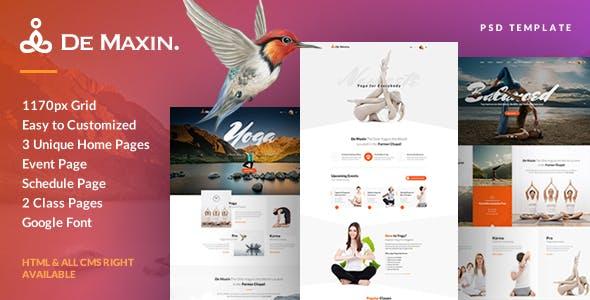 De Maxin - Yoga PSD Template