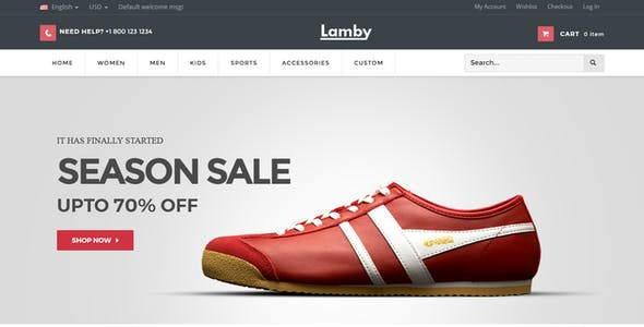 Lamby - Shoes Store Responsive Magento Theme