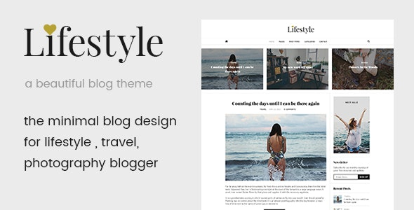 Life Style -  A Beautiful Blog WordPress Theme - Personal Blog / Magazine