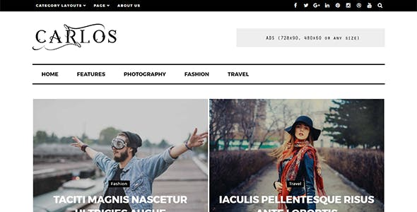 Carlos - Responsive WordPress Magazine and Blog Theme