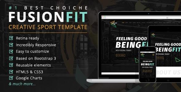 FusionFit - Creative Sport Template - Site Templates