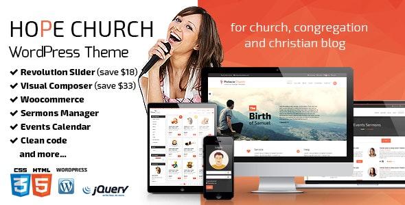 Hope - Multipurpose Nonprofit Theme - Churches Nonprofit