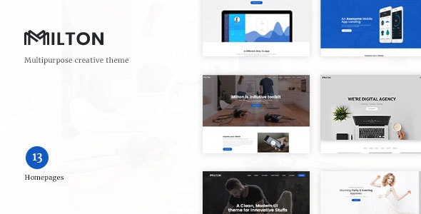 Milton v1.2.3 – Multipurpose Creative WordPress Theme