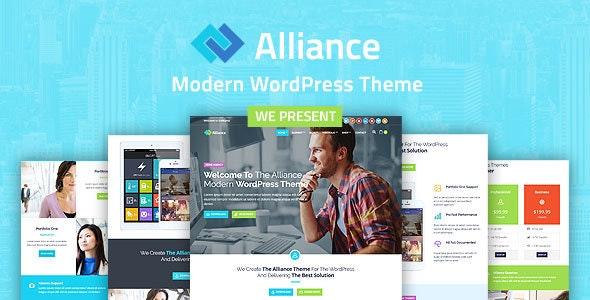 Alliance - Business And Marketing WordPress Theme - Business Corporate