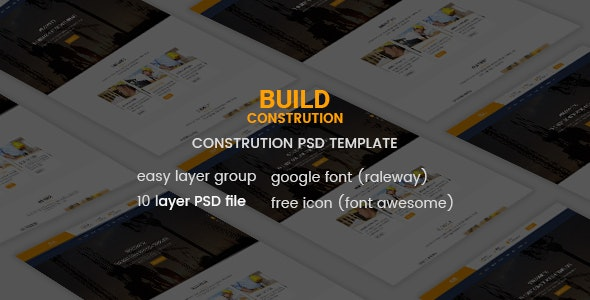 Build - Construction PSD Template - Marketing Corporate