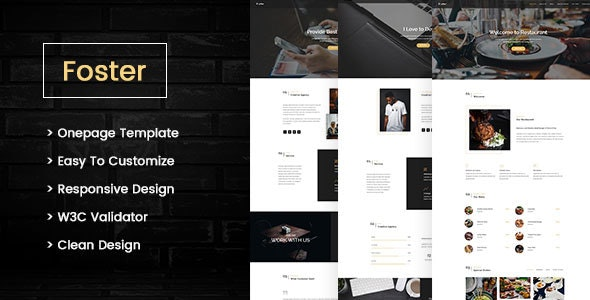 Foster- Multipurpose One page Template - Site Templates