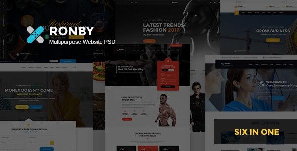Ronby - Multi-Purpose PSD Template - Corporate Photoshop