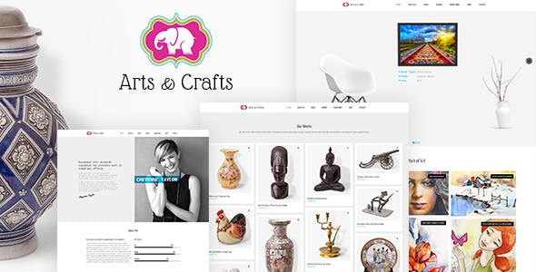 Crafts & Arts | Artist Portfolio Theme