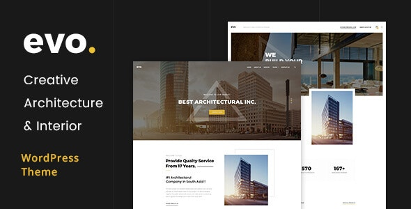 EVO - Creative Architecture & Interior WordPress Theme - Portfolio Creative