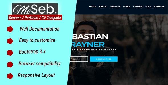 MeSeb - Responsive One Page CV/Resume/Portfolio - Portfolio Creative