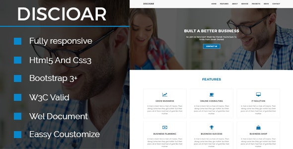 Discioar-Agency Html Template - Corporate Site Templates