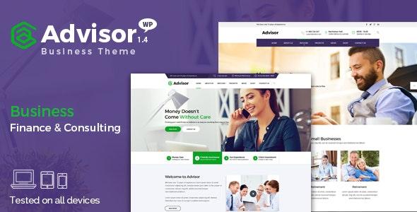 Advisor   Consulting, Business, Finance WordPress Theme - Business Corporate