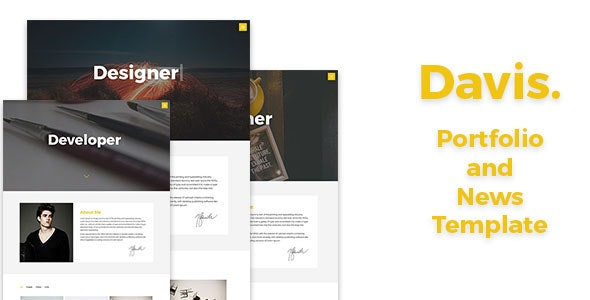 Davis - Portfolio and News Template - Portfolio Creative