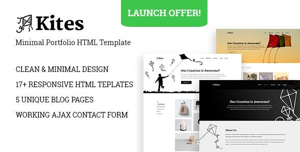 Kites - Minimal HTML Portfolio Template - Portfolio Creative