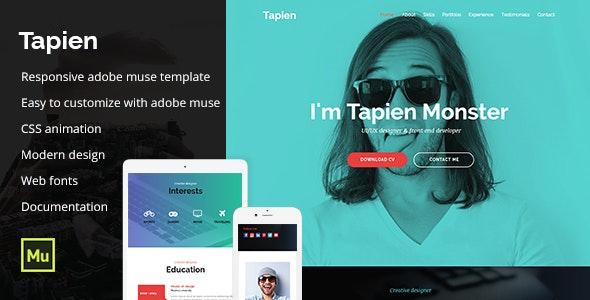 Tapien - CV Resume Personal and Portfolio Muse Template - Personal Muse Templates