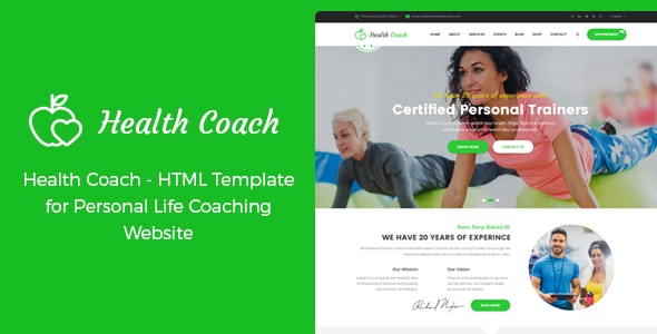 Health Coach - HTML Template for Personal Life Coaching Website - Health & Beauty Retail